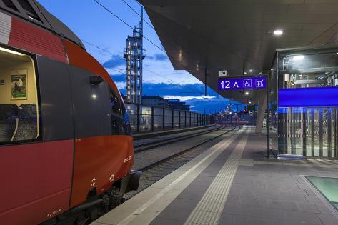 Austria, Vienna, Central Station, Platform Photographic Print