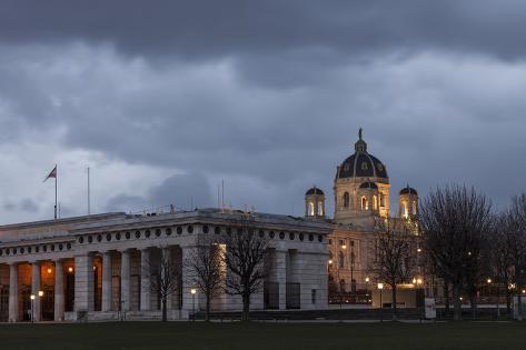 Austria, Vienna, Heldenplatz, Castle Gate, Art-Historical Museum Photographic Print