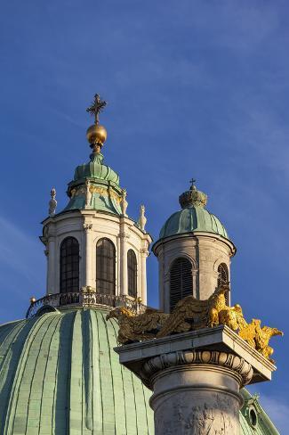 Europe, Austria, Vienna, St. Charles's Church Photographic Print
