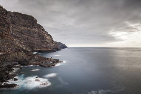 Rock Coast on the West Coast Near Tijarafe, La Palma, Canary Islands, Spain, Europe Photographic Print