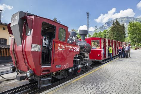 Schafbergbahn in the Valley Station, St Wolfgang at the Wolfgangsee, Upper Austria, Austria, Europe Photographic Print