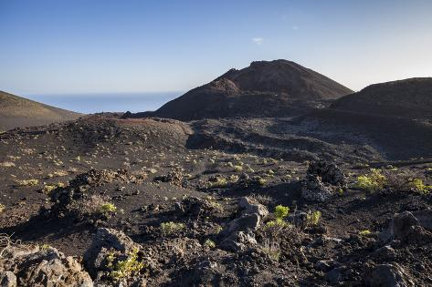 Volcano Landscape Between the Two Volcanoes San Antonio and Teneguia, La Palma, Spain Photographic Print