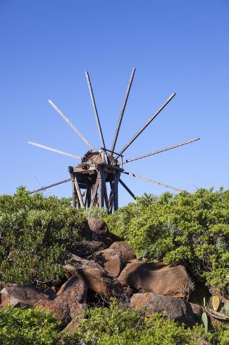 Windmill in Casas Del Calvario in the Northwest, La Palma, Canary Islands, Spain, Europe Photographic Print