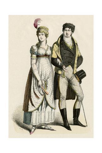 German Couple 1800 Stampa giclée