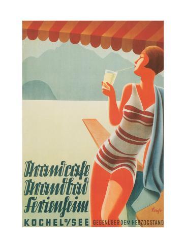 German Flapper in Bathing Suit Art Print