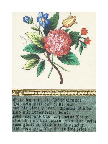 German Greetings Card Stampa giclée