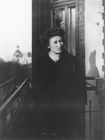 Rosa Luxemburg on a Balcony, 1910 Photographic Print