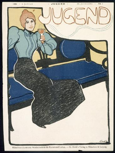 Front Cover of Jugend Magazine, January 1898 Giclee Print