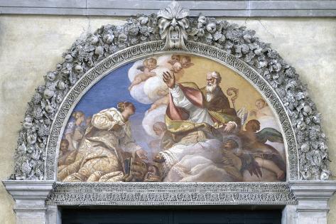Venice Kneeling before St. Nicholas Fotografía