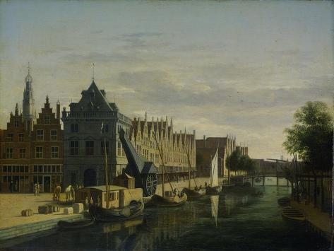 View the Waag at the Spaarne in Haarlem Art Print