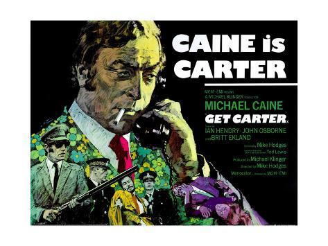 Get Carter, British Poster, Michael Caine, 1971 Giclee Print