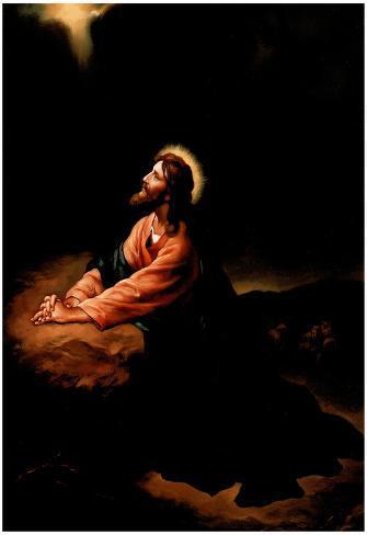 Gethsemane II (Jesus Praying) Art Poster Print Póster