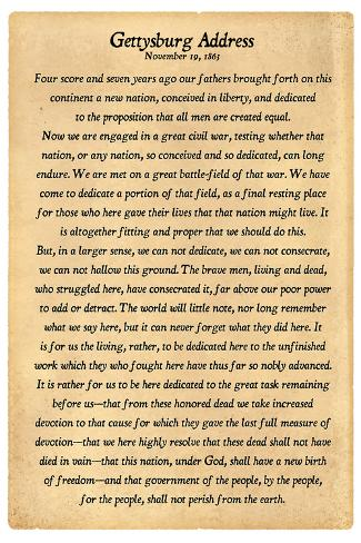 gettysburg address versus declaration of independence Gettysburg address word list july 28 lincoln invoked the principles of human equality espoused by the declaration of independence and used the ceremony at.