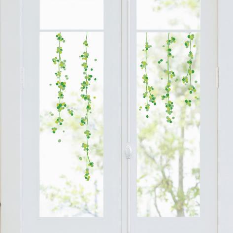 Ghirlanda vetrofania adesivo per finestre su - Vetrofanie per finestre ...