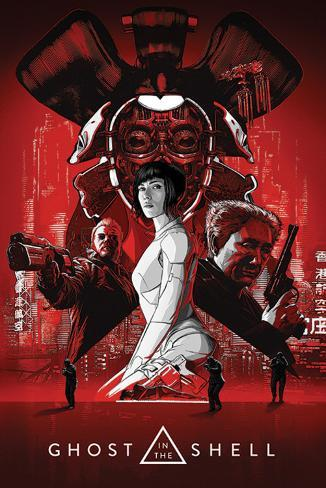 Ghost In The Shell - Red Poster
