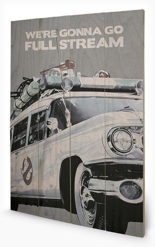 Ghostbusters - Ectomobile Wood Sign Träskylt