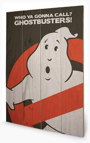 Ghostbusters - Logo Cartel de madera