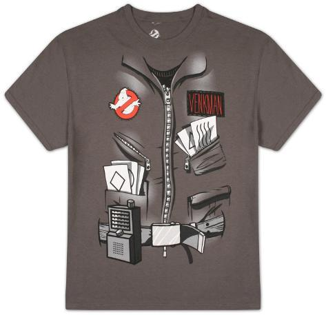 Ghostbusters - Wavy Lines Costume Tee T-Shirt