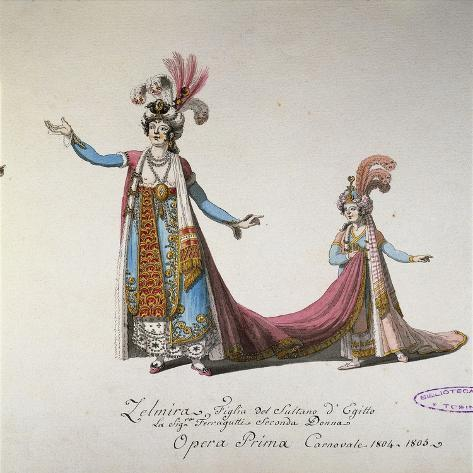 Costume Sketch for Zelmira Giclee Print