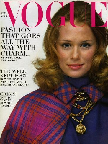 Vogue Cover - August 1968 Premium Giclee Print