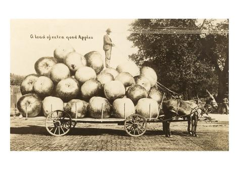 Giant Apples in Mule Cart Art Print
