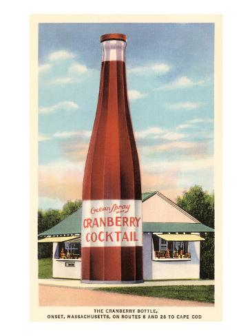 Giant Cranberry Cocktail Bottle Art Print