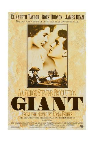 Giant, Elizabeth Taylor, James Dean, Rock Hudson, Re-Issue Poster, 1996 Giclee Print