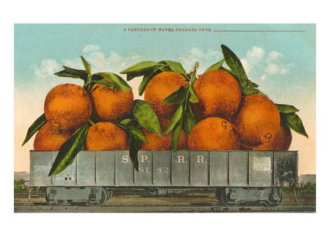 Giant Oranges in Rail Car Taidevedos