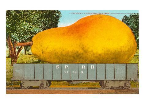 Giant Pear in Rail Car Taidevedos