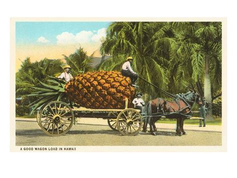Giant Pineapple on Cart, Hawaii Art Print