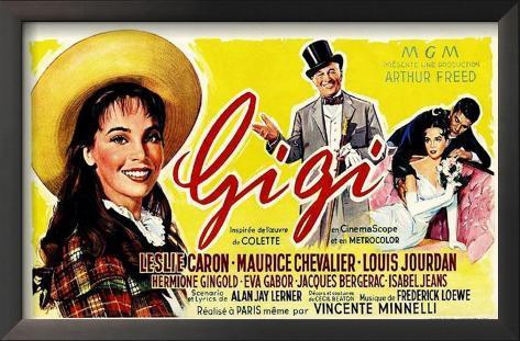 Gigi Impressão artística emoldurada