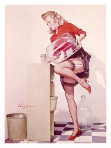 Pin-Up Girl: Sexy Office Giclee Print