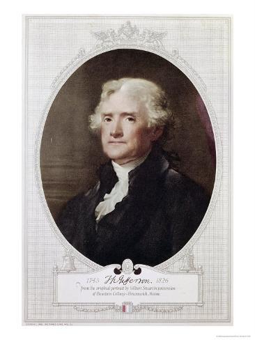 Thomas Jefferson Lámina giclée