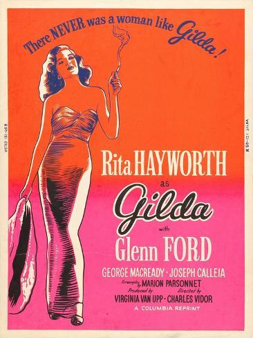 Gilda, Rita Hayworth, 1946 Art Print