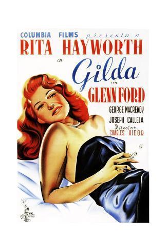 Gilda, Rita Hayworth, Spanish Poster Art, 1946 Giclee Print
