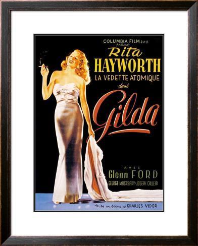 Gilda Impressão artística emoldurada