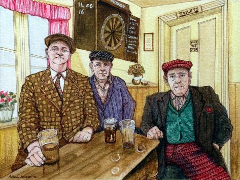 Three Men in a Pub, 1984 Giclée-vedos