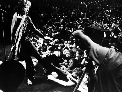 Gimme Shelter, Mick Jagger, 1970, Performing Onstage Foto