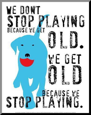 Don't Stop Playing Impressão montada