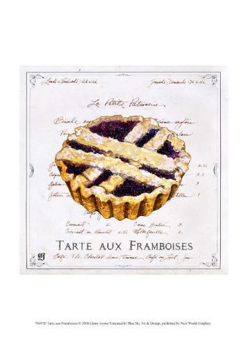 Tarte aux Framboises Art Print