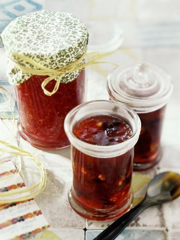 Raspberry and Red Berry Jam Photographic Print