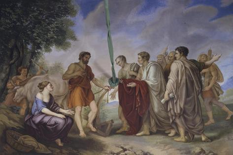 Cincinnatus Receiving the Roman Senate Giclee Print