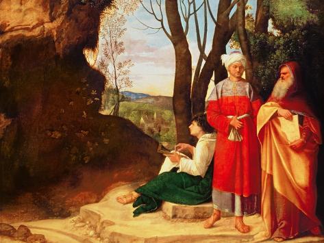 The Three Philosophers Giclee Print