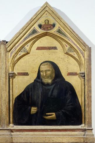 St Benedict, Detail from Badia Polyptych, Circa 1300 Lámina giclée