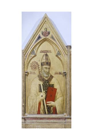 St Nicholas of Bari, Detail from Badia Polyptych, Circa 1300 Lámina giclée