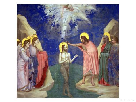 The Baptism of Christ, circa 1305 Giclée-vedos