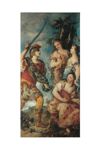 Rinaldo and the Nymphs Stampa giclée