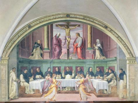 The Supper of St. Dominic, Lunette Lámina giclée