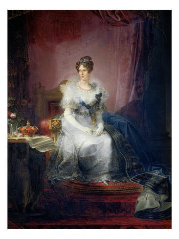 Portrait of Maria Luigia Stretched Canvas Print