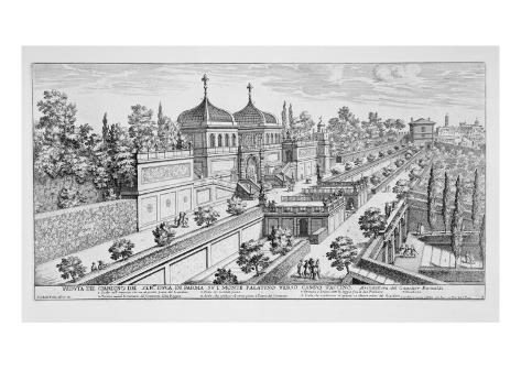 Garden of the Duke of Parma on the Palatine Hill, Looking Towards Campo Vaccino, Rome Giclee Print